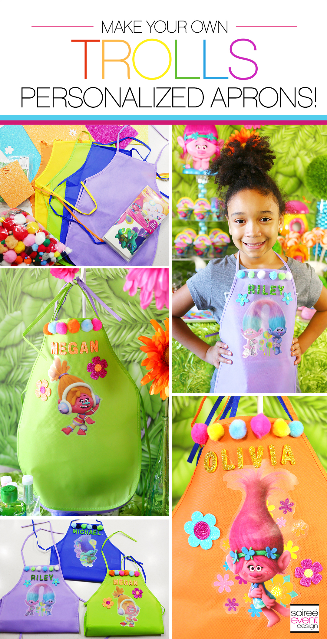 trolls-party-ideas-diy-trolls-personalized-aprons