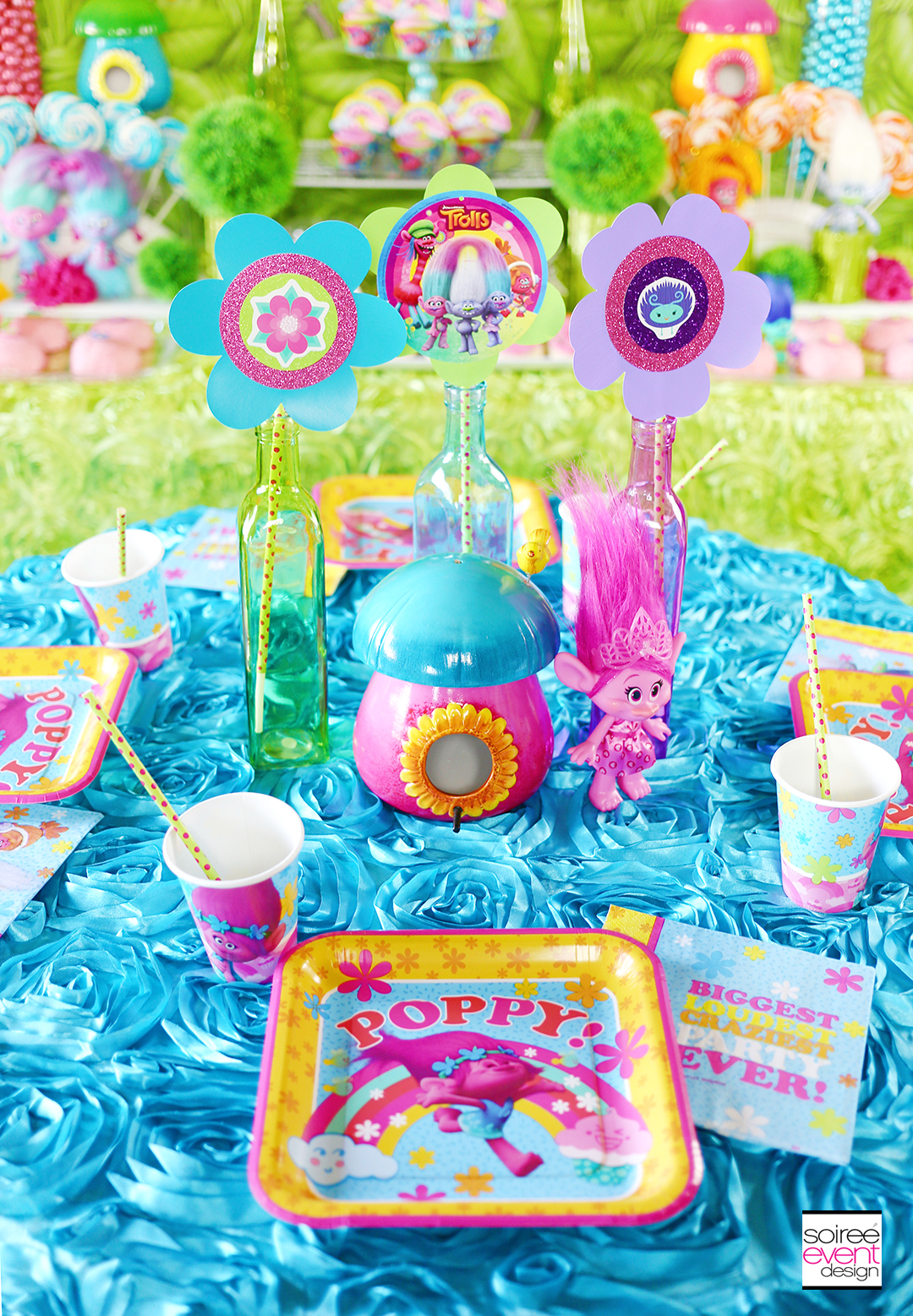 Trolls Party Ideas Dining Table