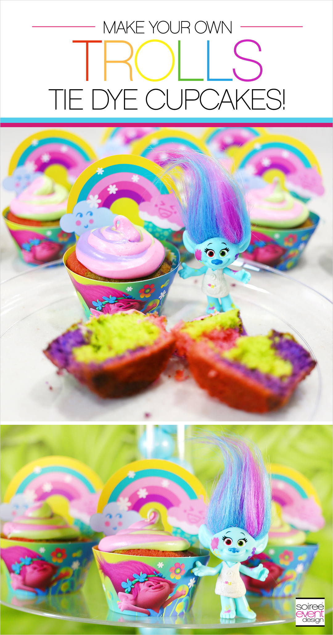 Trolls Party Ideas - Trolls Cupcakes Recipe
