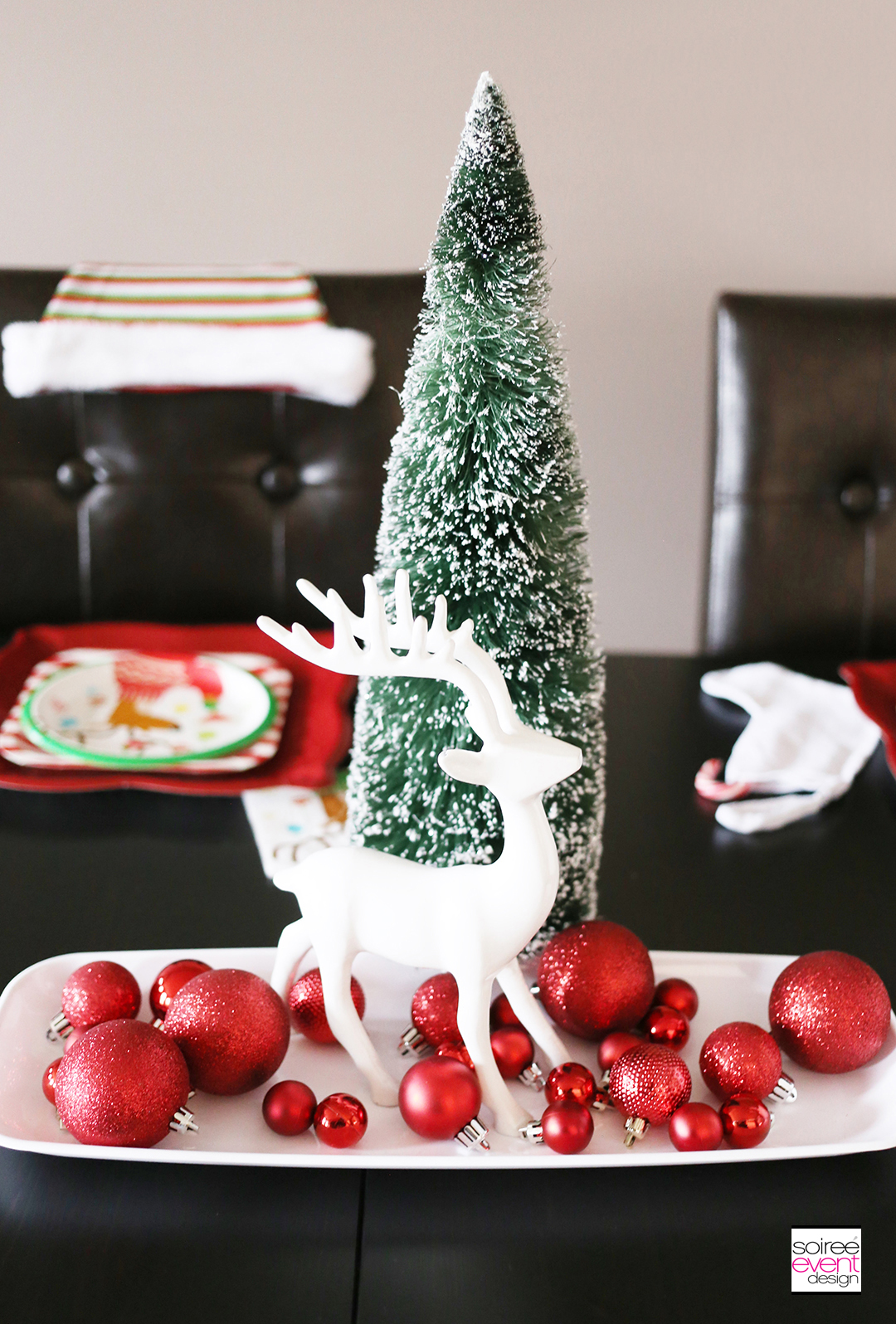 Christmas Gift Wrapping Party, Christmas reindeer decorations
