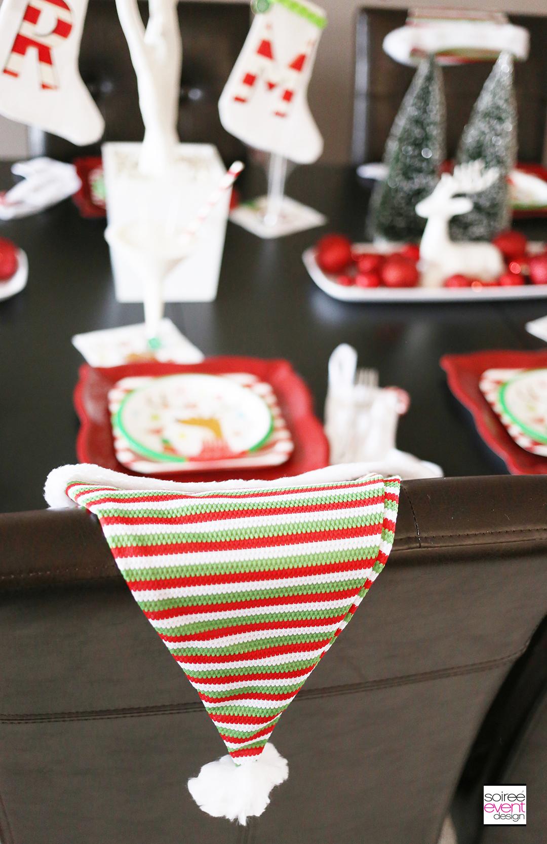 Christmas Gift Wrapping Party, Santa Hats