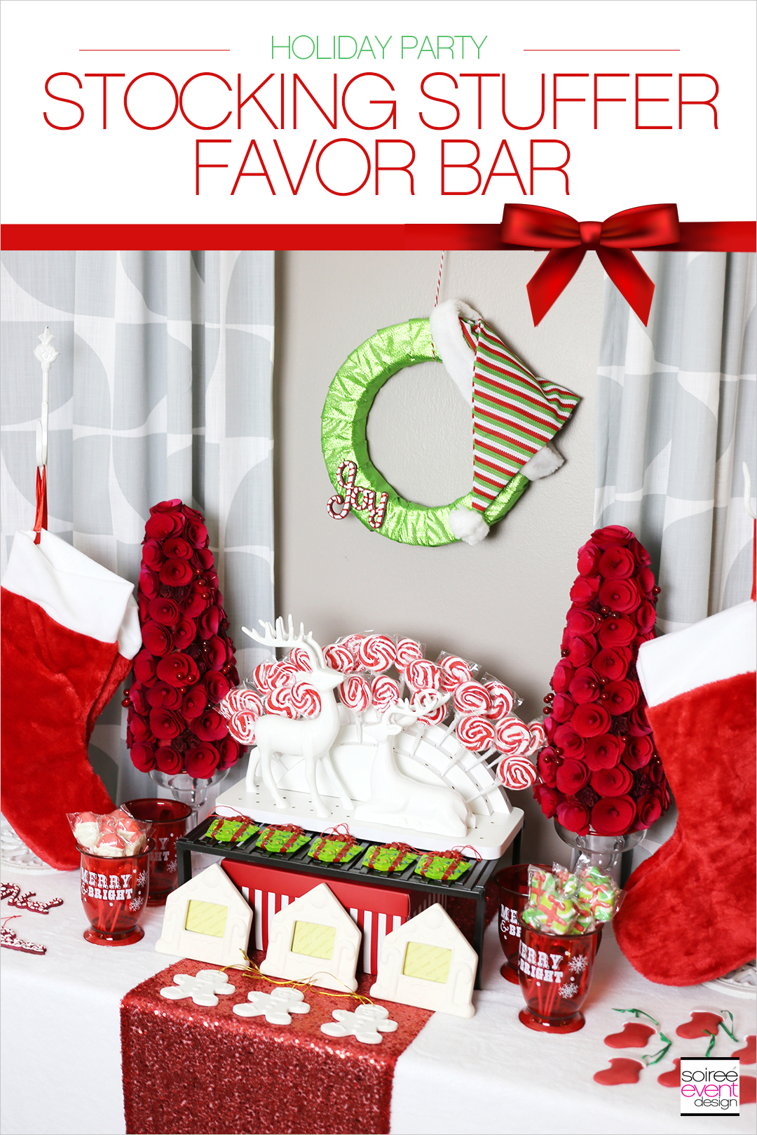 Christmas Gift Wrapping Party, Stocking Stuffer Favor Bar