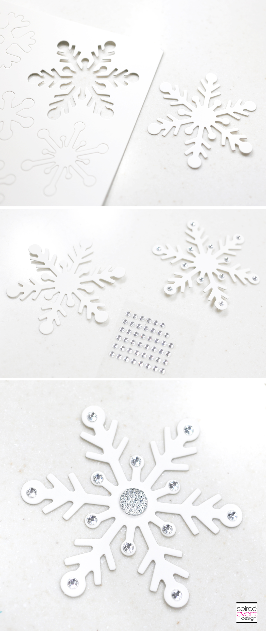 DIY Christmas Wreath, DIY Christmas decorations, bling snowflakes