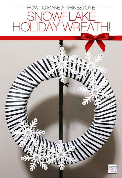 How to Make a Black and White Snowflake DIY Christmas Wreath