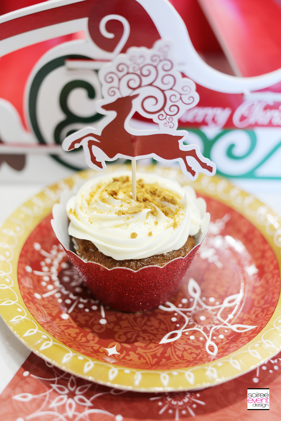 Holiday cupcakes and cocktails, Gingerbread cupcakes