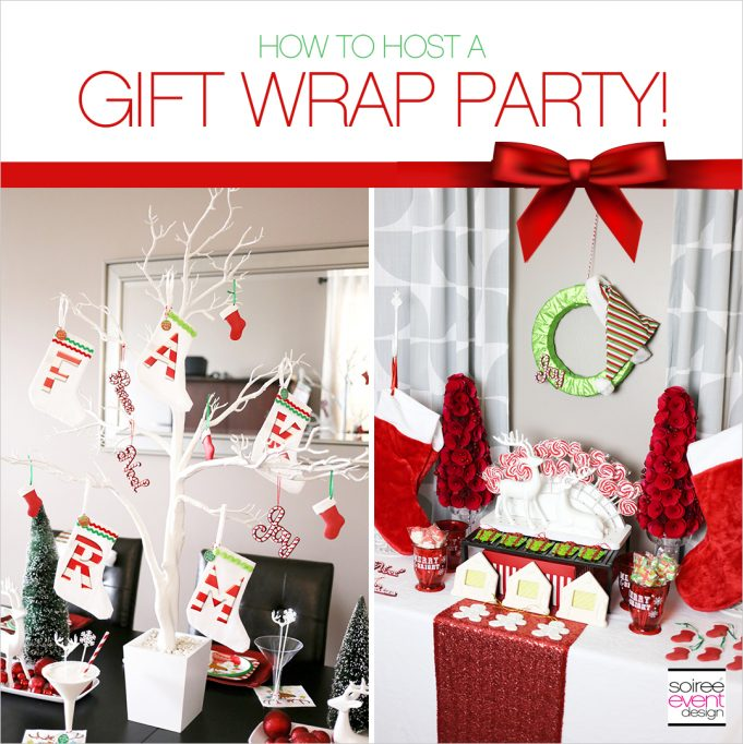 Host a Christmas Gift Wrapping Party + Stocking Stuffer Favor Bar!