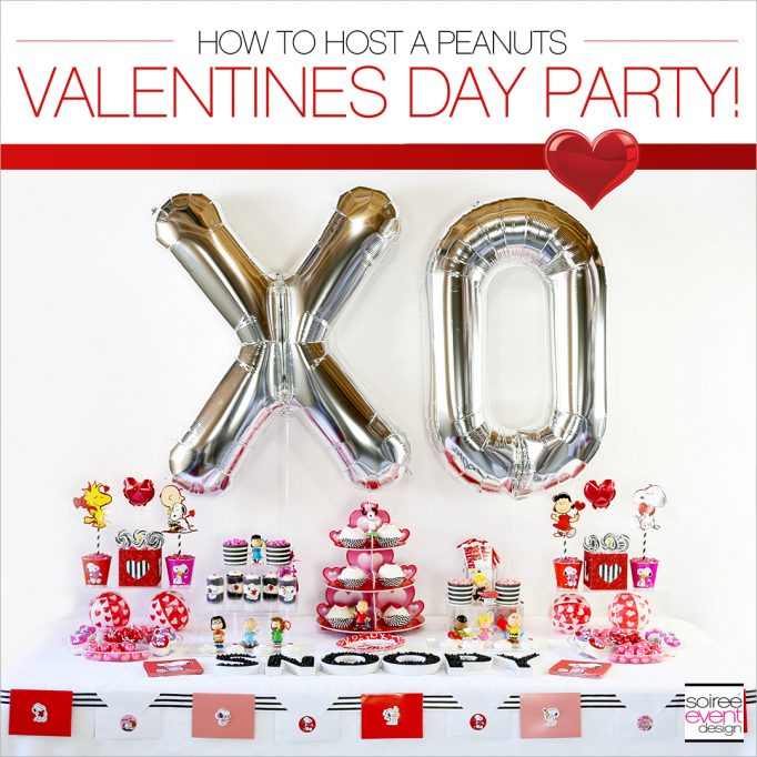 Modern and Cute Peanuts Valentine's Day Party!