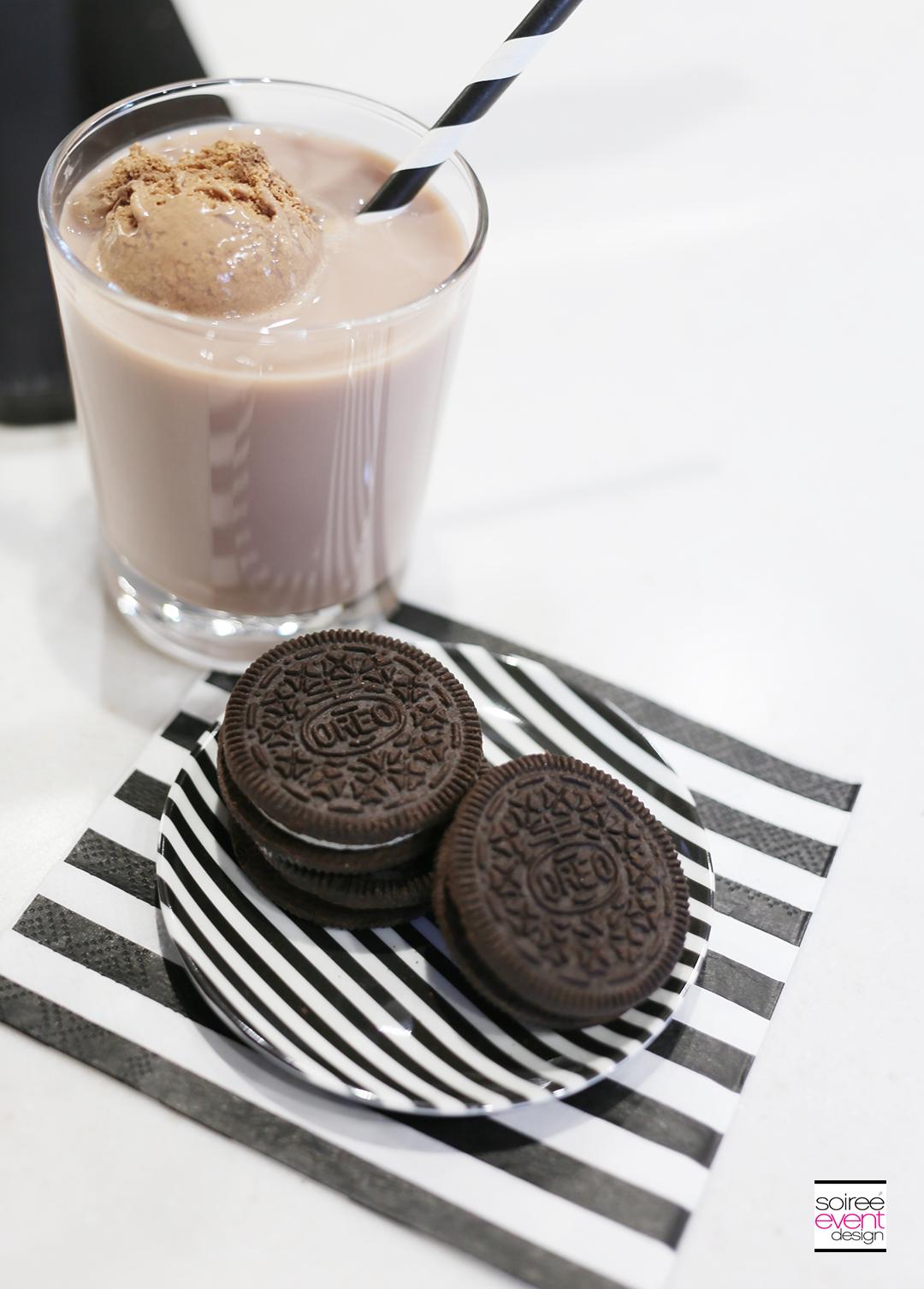 Chocolate Milk and OREO Cookies