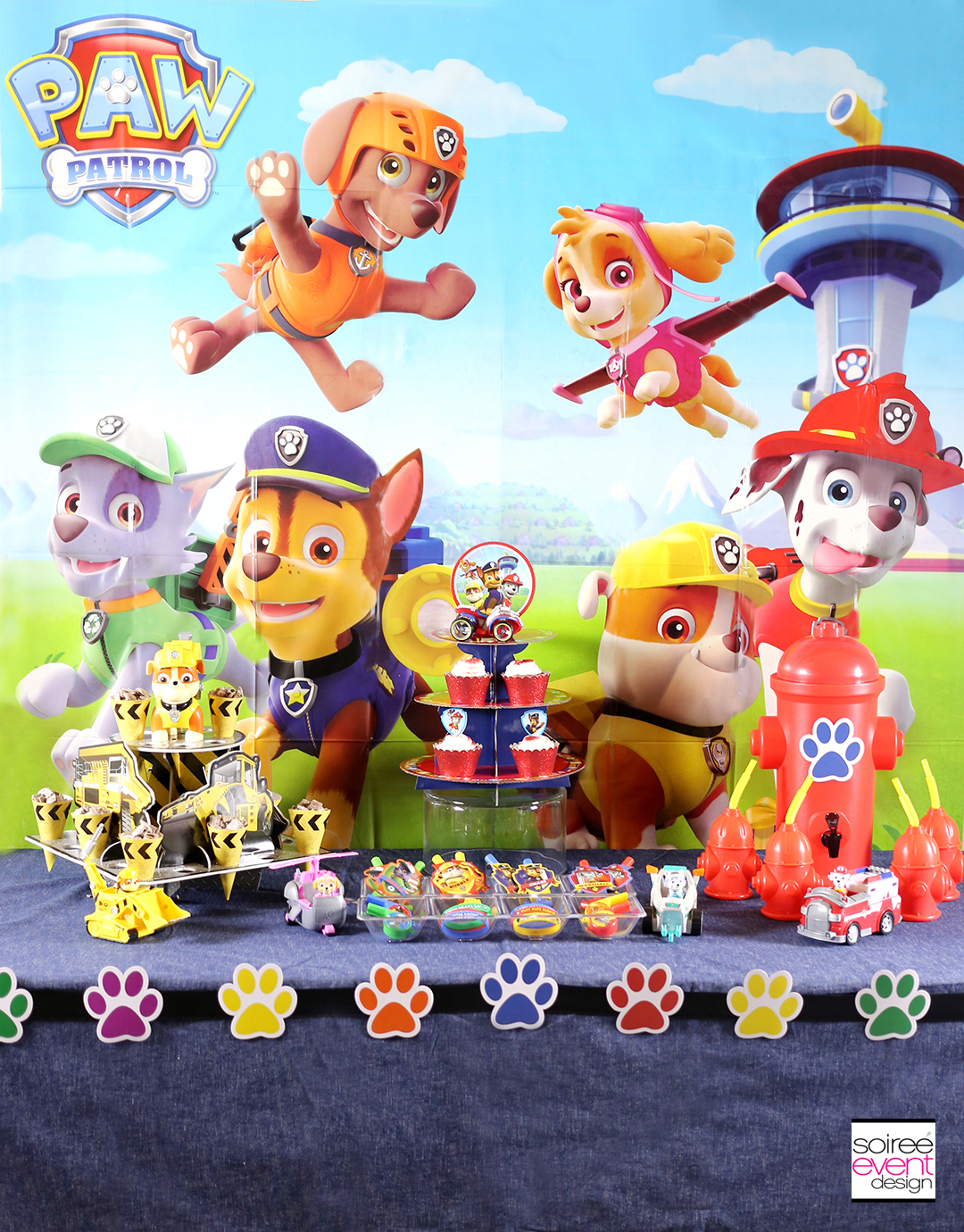 paw patrol party ideas your kids will love soiree event. Black Bedroom Furniture Sets. Home Design Ideas