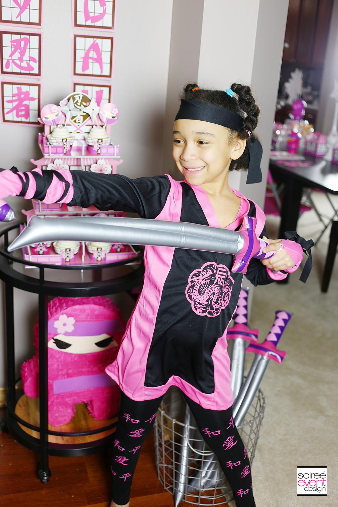Pink Ninja Birthday Party for girls