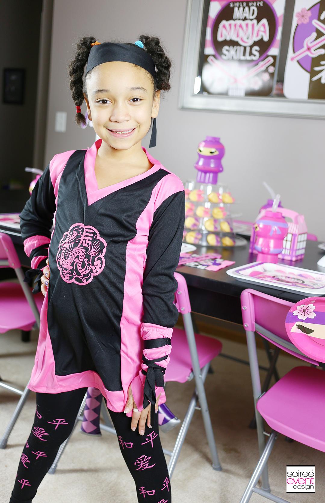 Pink Ninja Party Costume