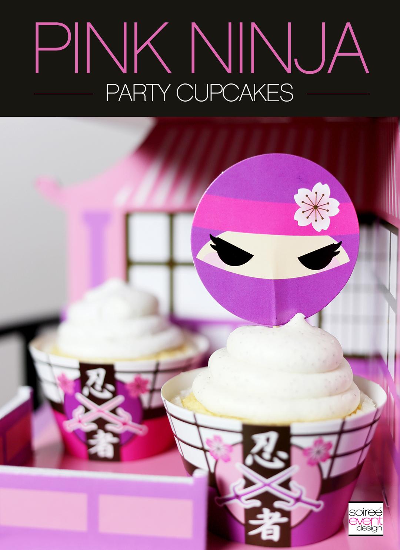 Pink Ninja Party - Cupcakes