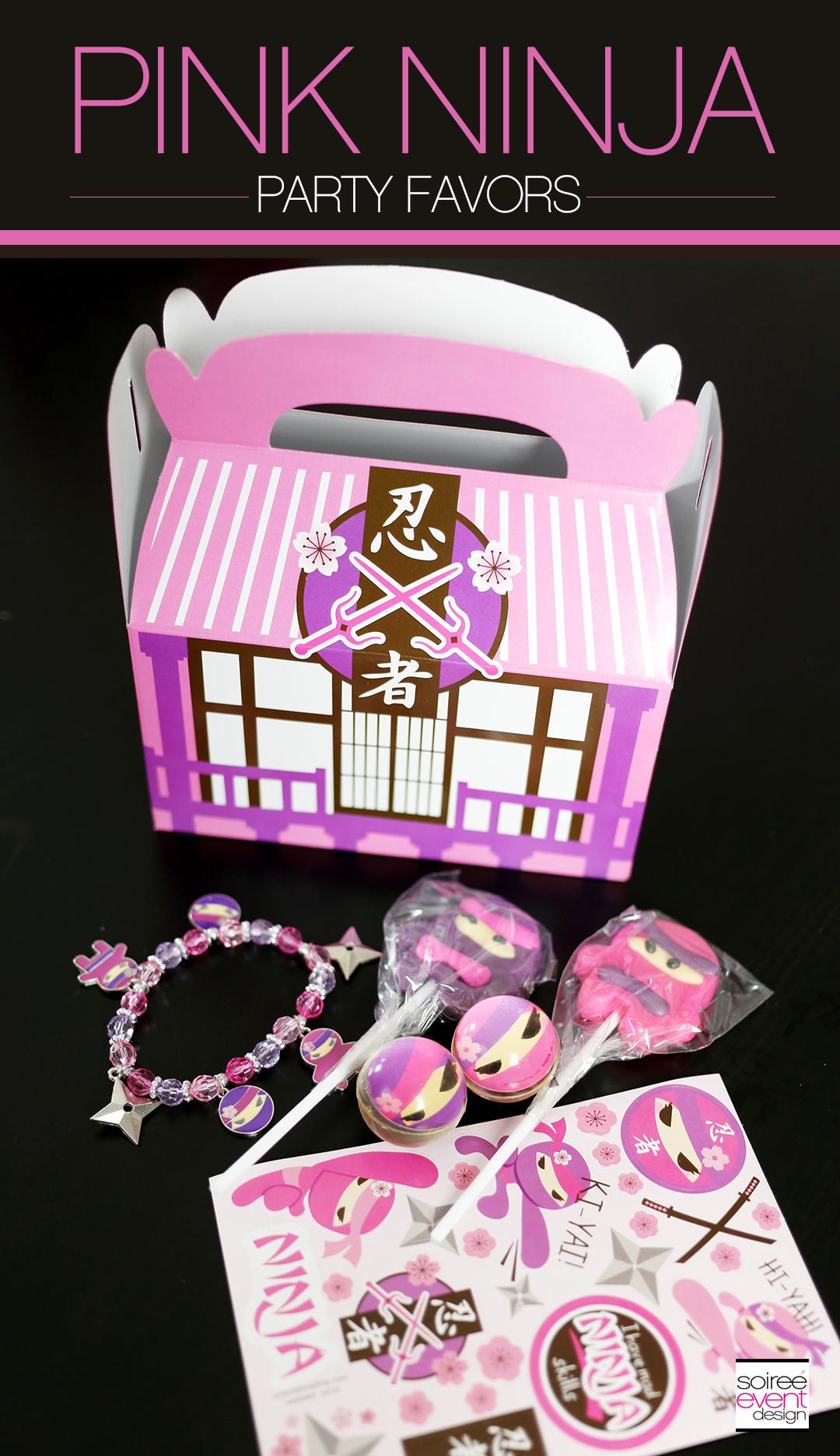 Pink Ninja Party Favors