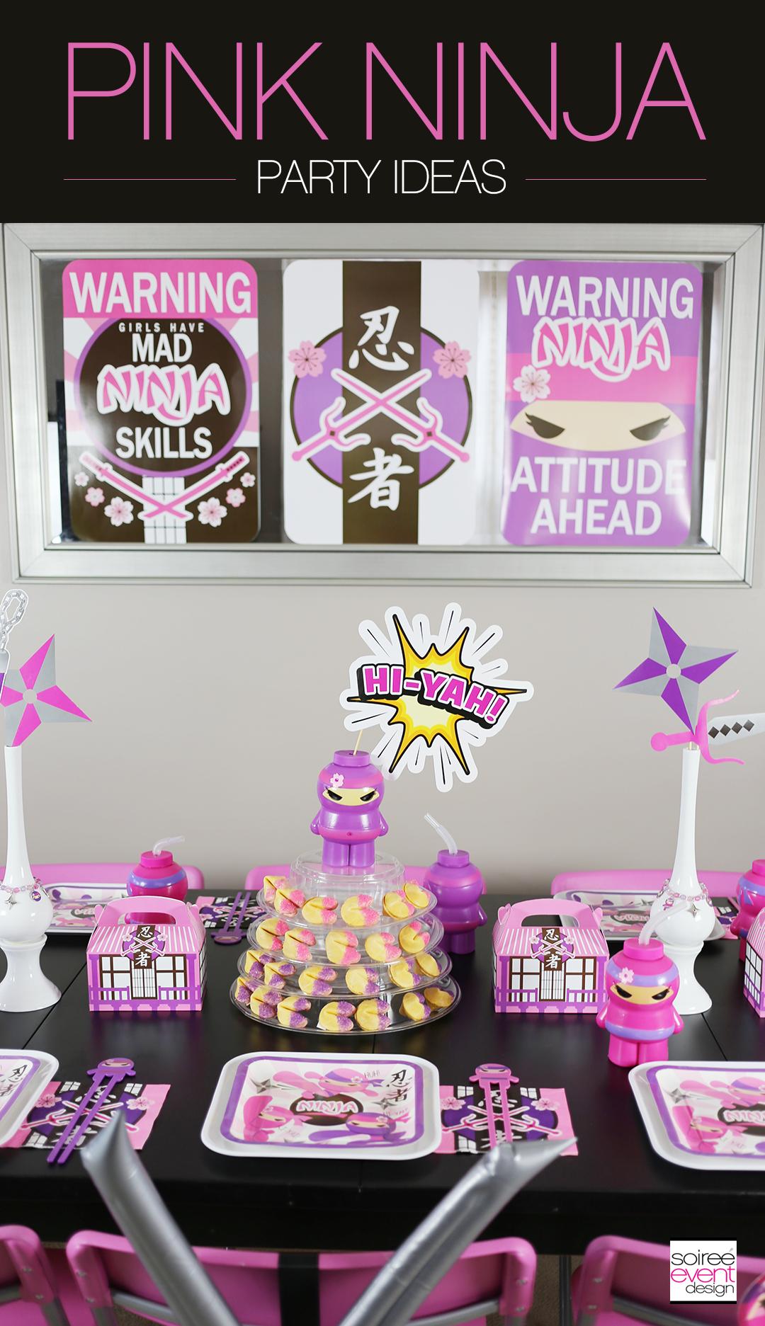 Pink Ninja Party Ideas