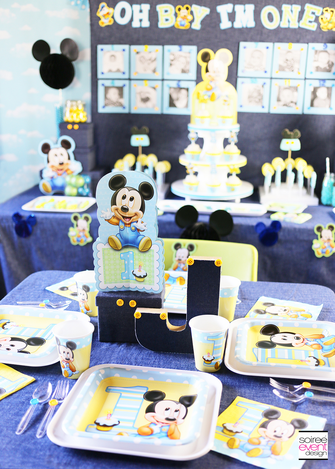 Mickey Mouse 1st Birthday Party Ideas