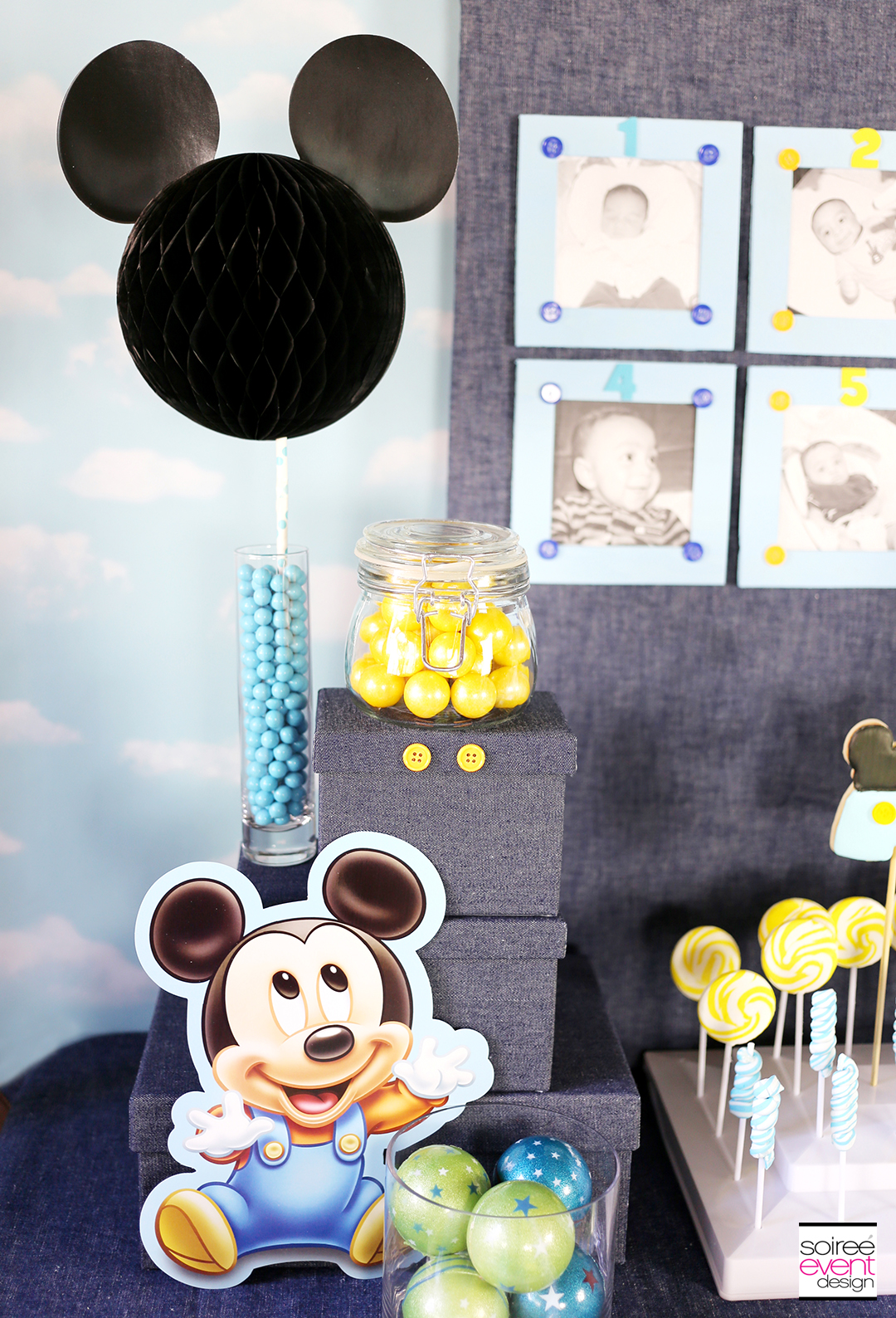 Mickey mouse first birthday party ideas soiree event design for Baby mickey decoration ideas