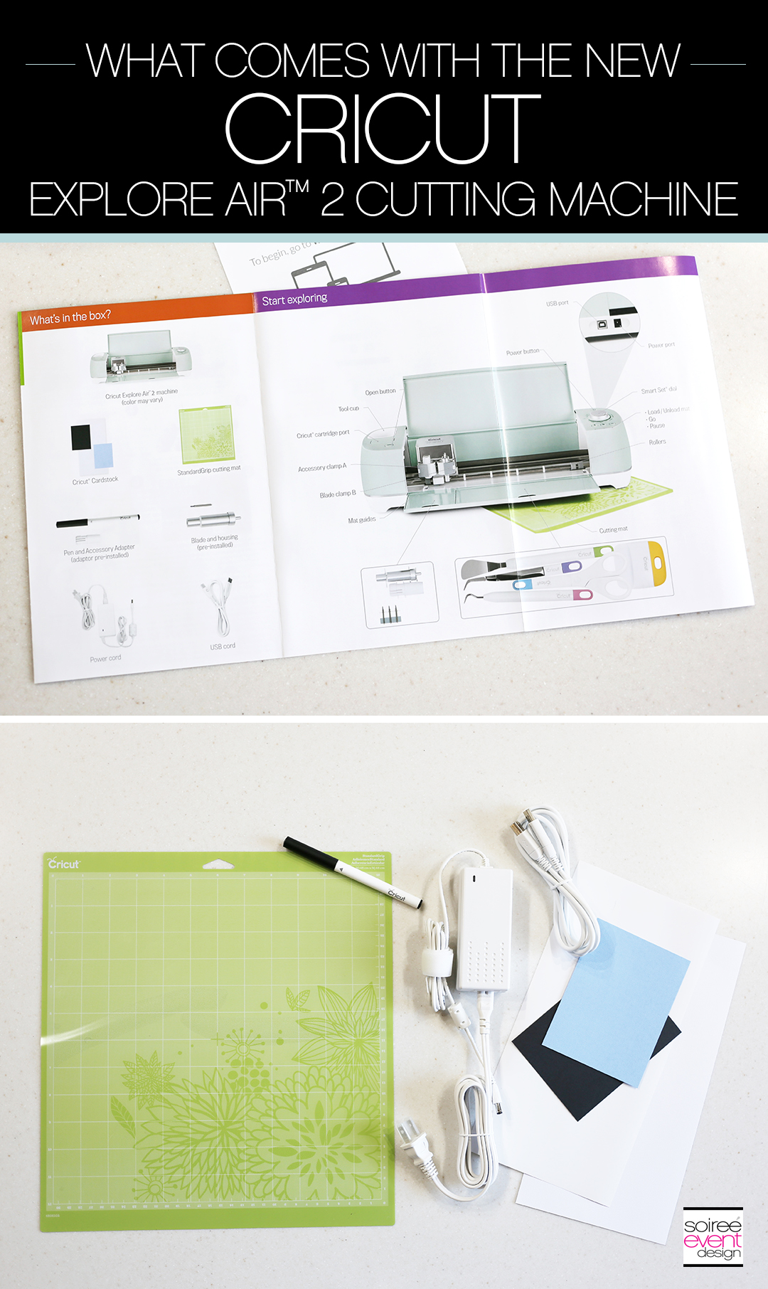 What comes with the New Cricut Explore Air 2