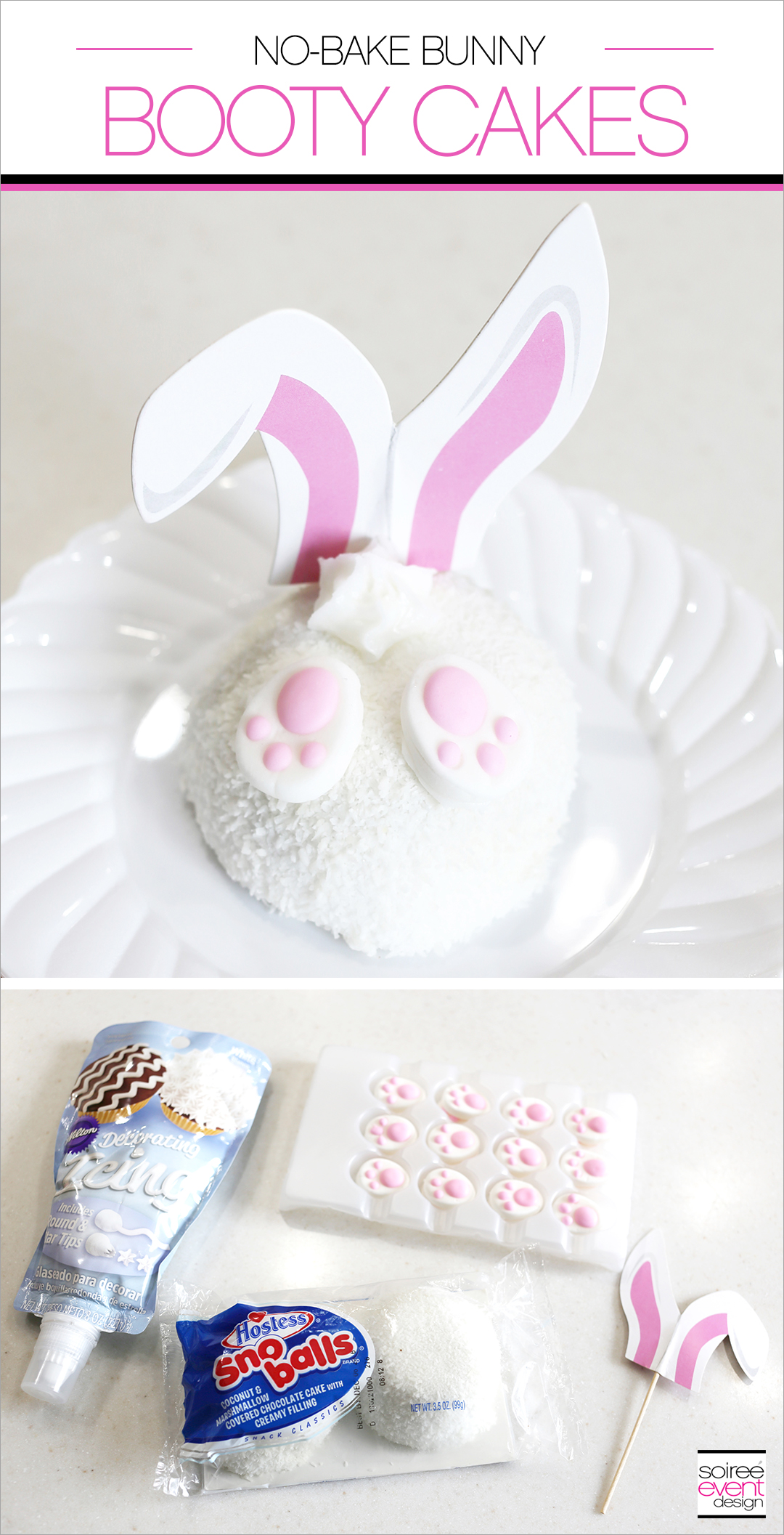 Easter No-Bake Desserts - Bunny Booty Cakes
