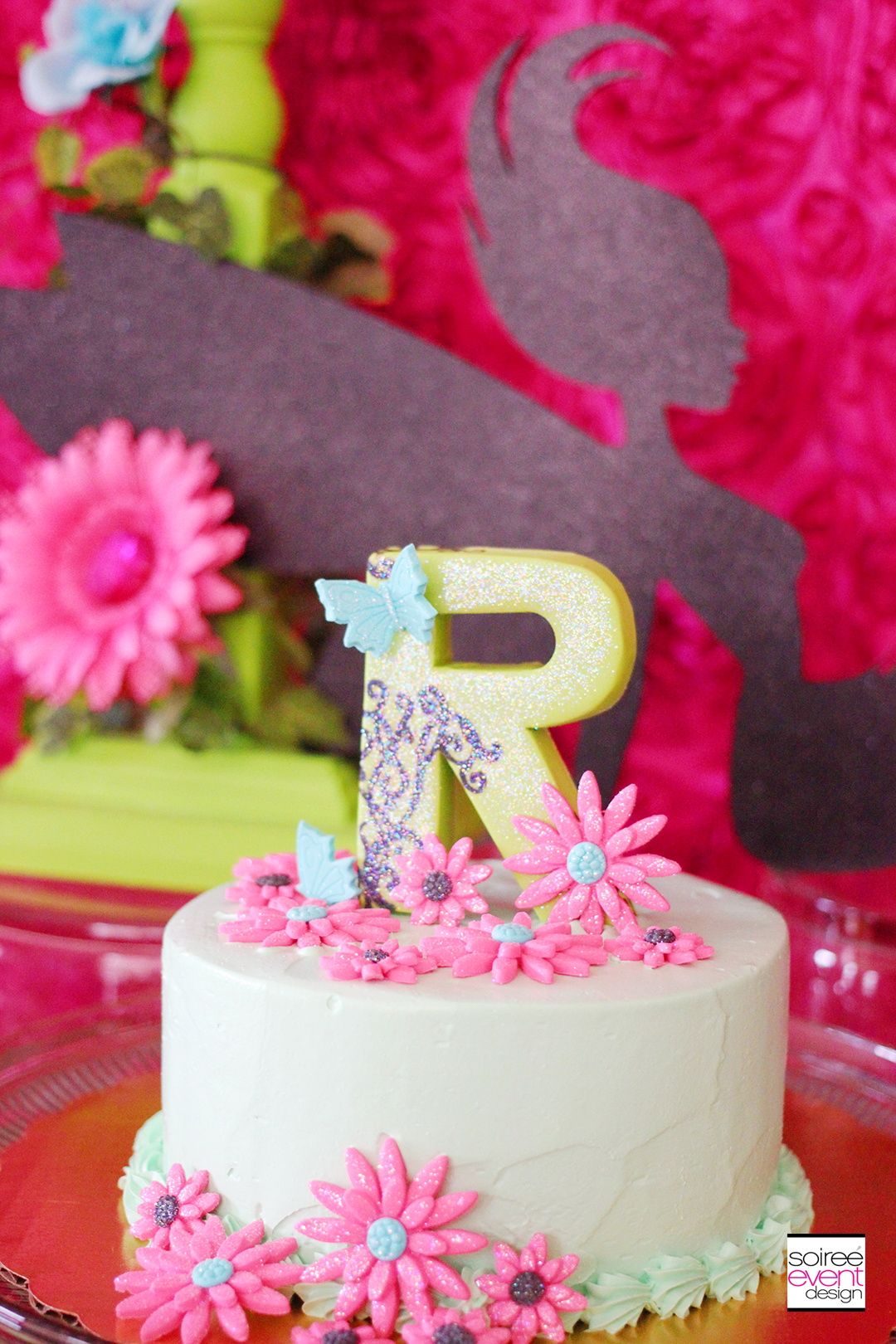 Fairy Garden Party - Fondant Cake Topper