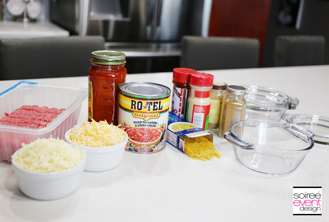 Southwest Baked Spaghetti - Ingredients
