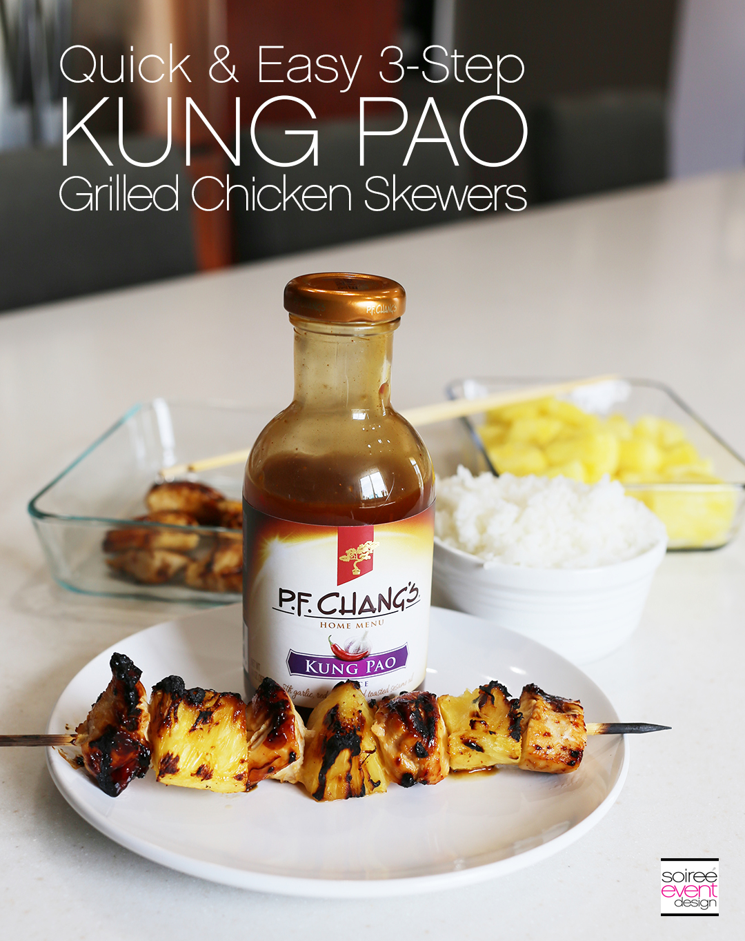 3-Step Kung Pao Grilled Chicken Skewers