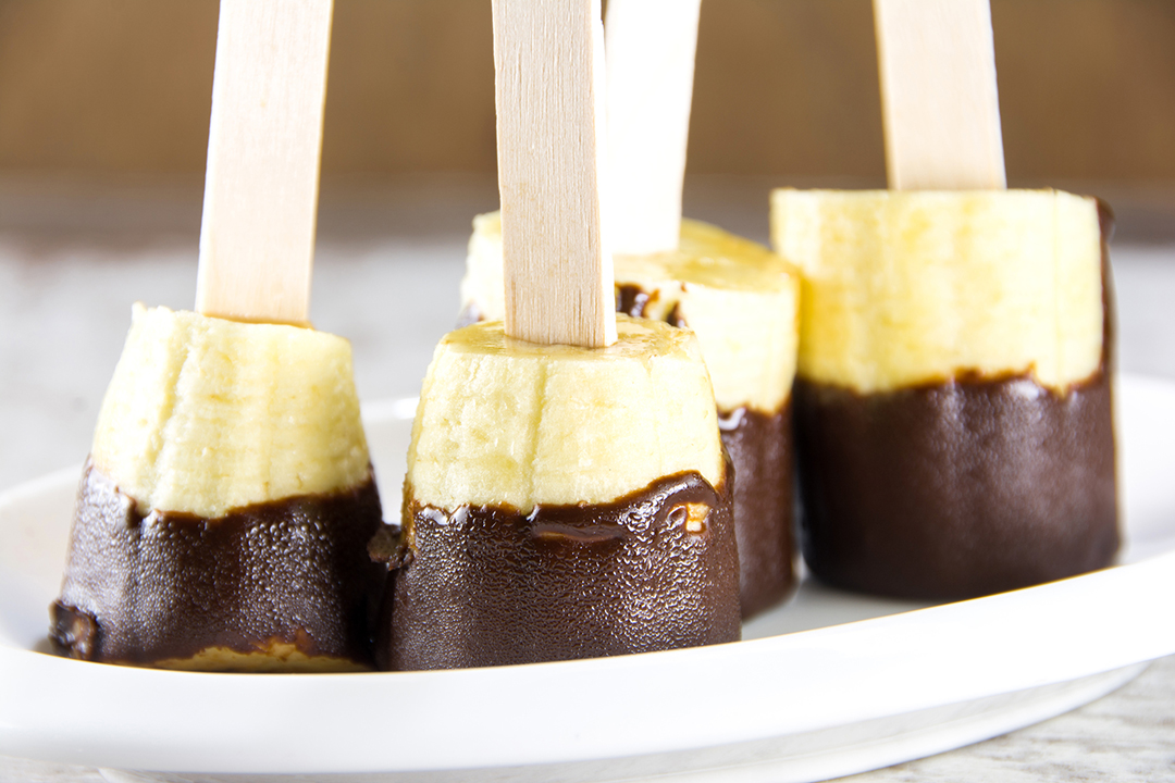 Chocolate dipped bananas