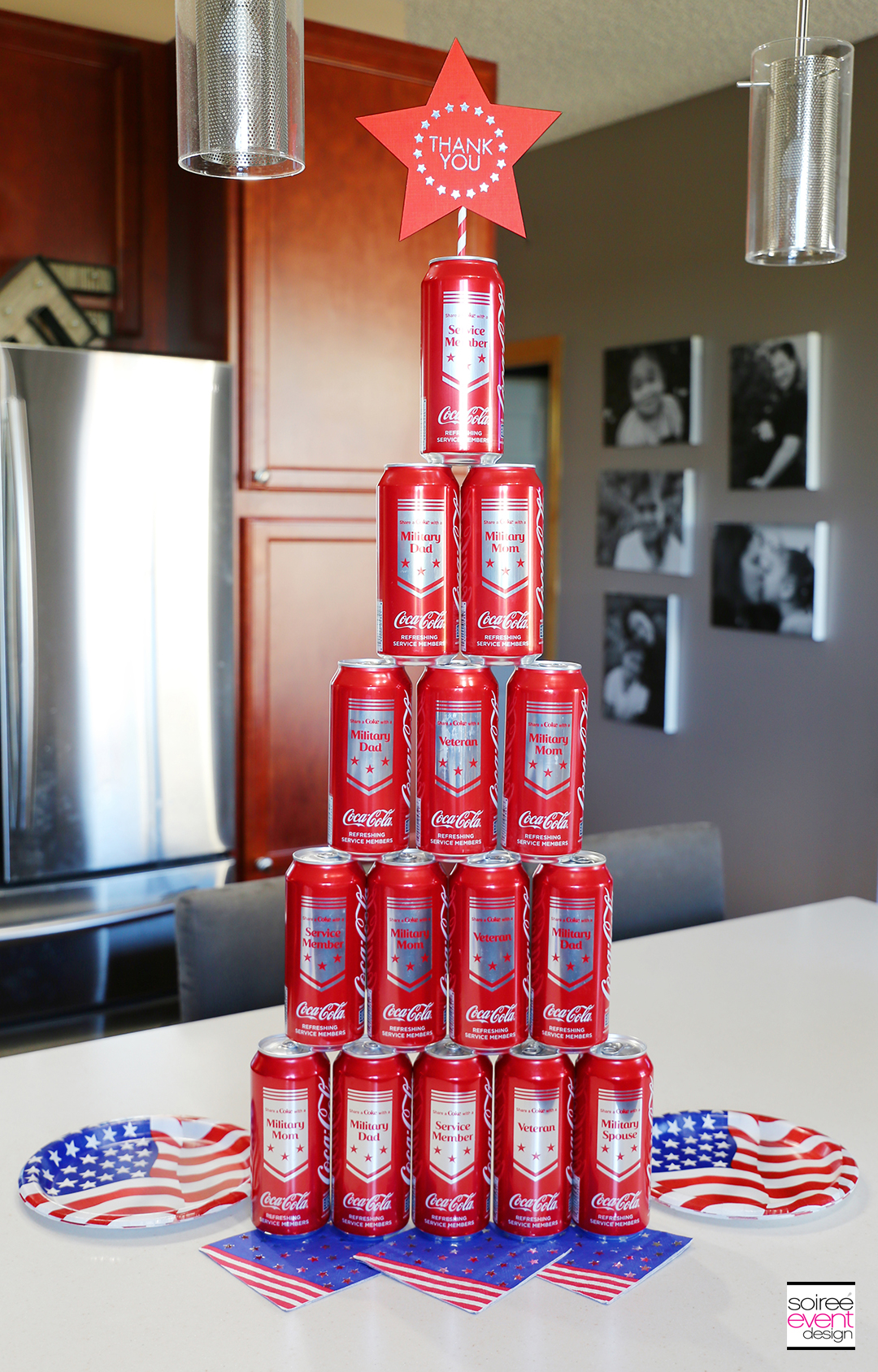 Coca Cola Military Can Tower