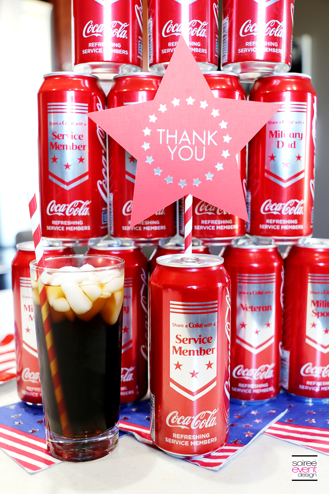 Coca-Cola limited edition MIlitary Cans at Dollar General