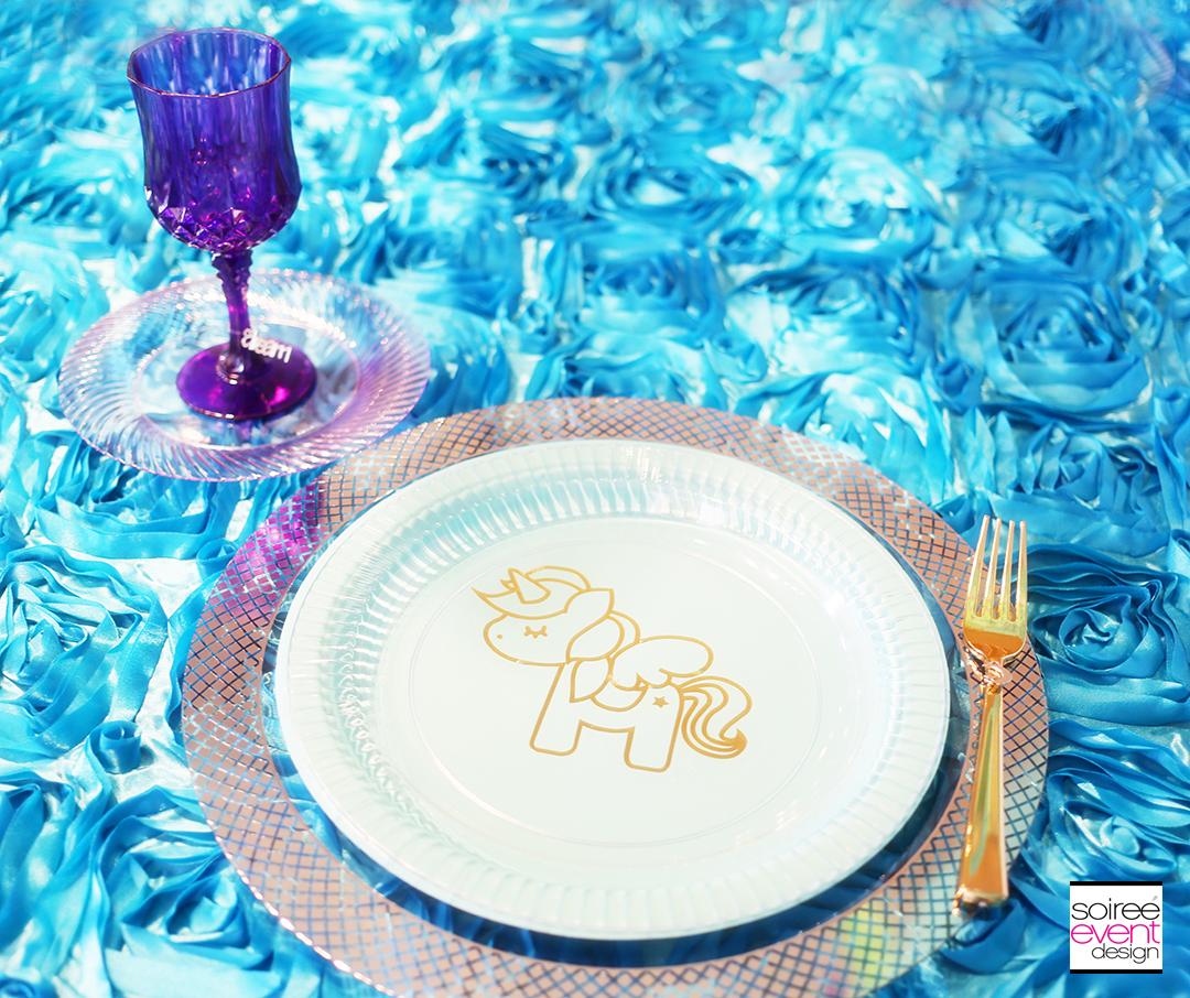 Custom Unicorn Party Plates with Cricut