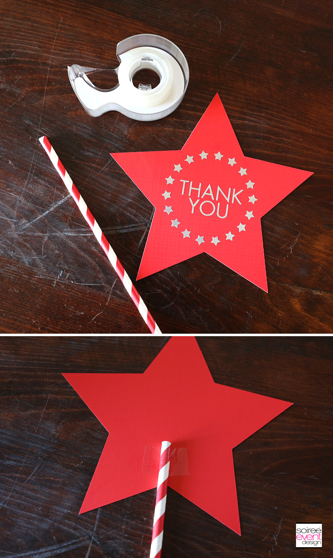 DIY 4th of July Star Topper - Step 5