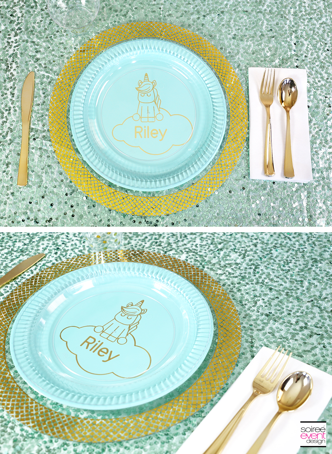 DIY Personalized Unicorn Party Plates with Cricut Tutorial