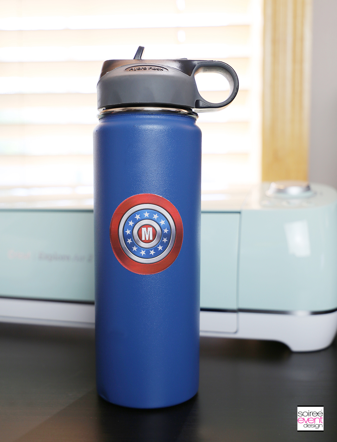 #DIYyour4thOfJuly_Superhero Backpack and Water Bottle with Cricut 15
