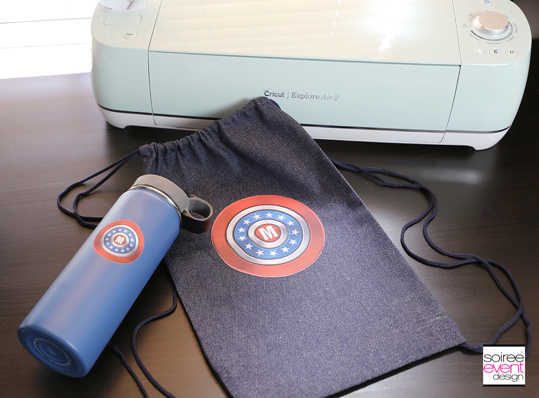 #DIYyour4thOfJuly_Superhero Backpack and Water Bottle with Cricut 16