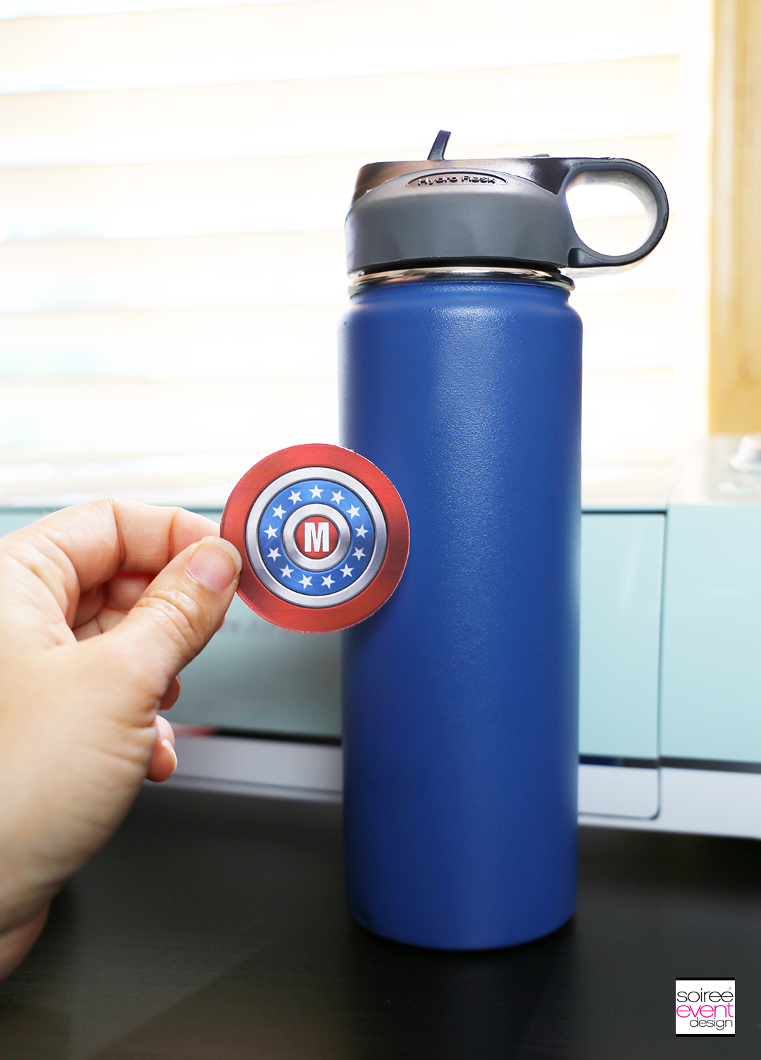 #DIYyour4thOfJuly_Superhero Backpack and Water Bottle with Cricut 17