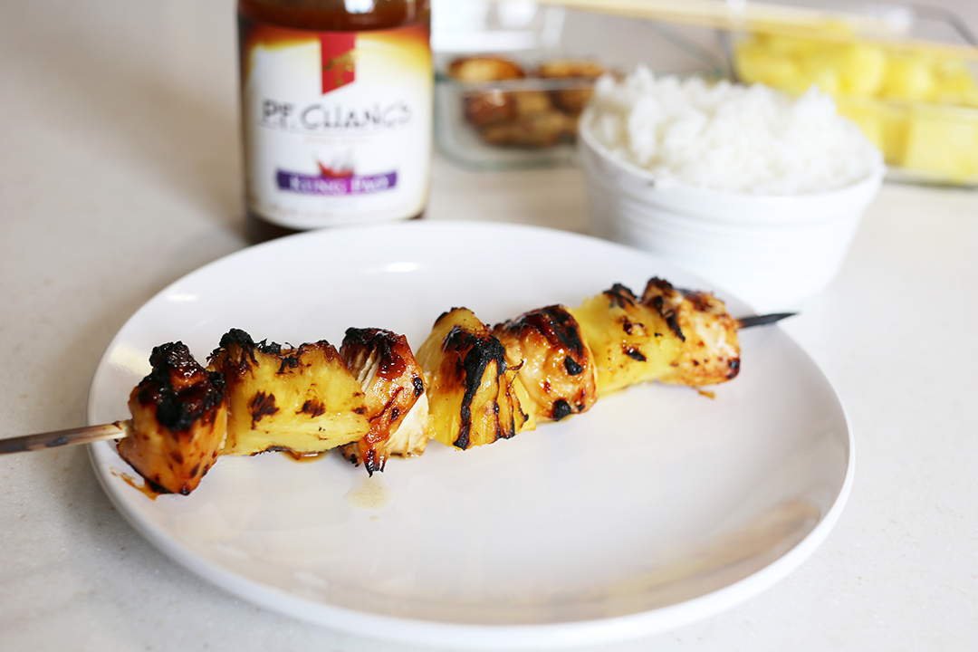 Kung Pao Grilled Chicken Skewers