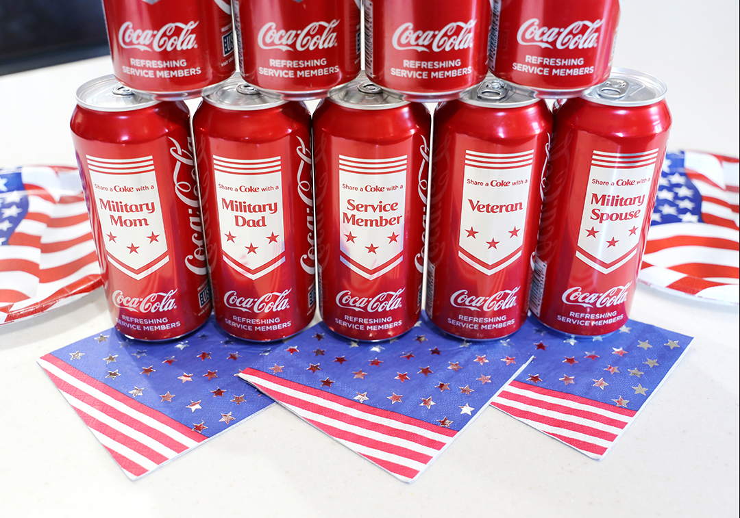 Limited Edition Military Coca-Cola Cans at Dollar General