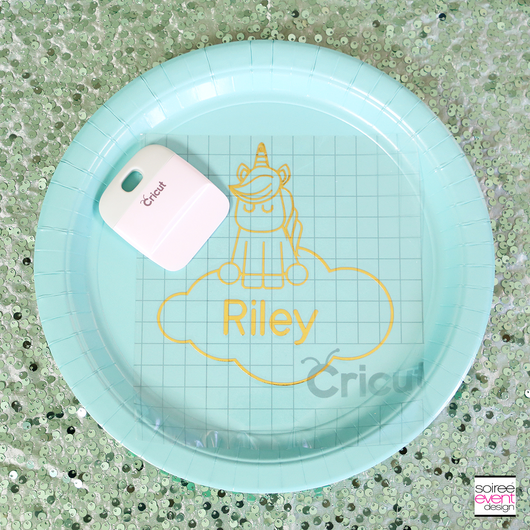Make Personalized Party Plates with Cricut - Step 10
