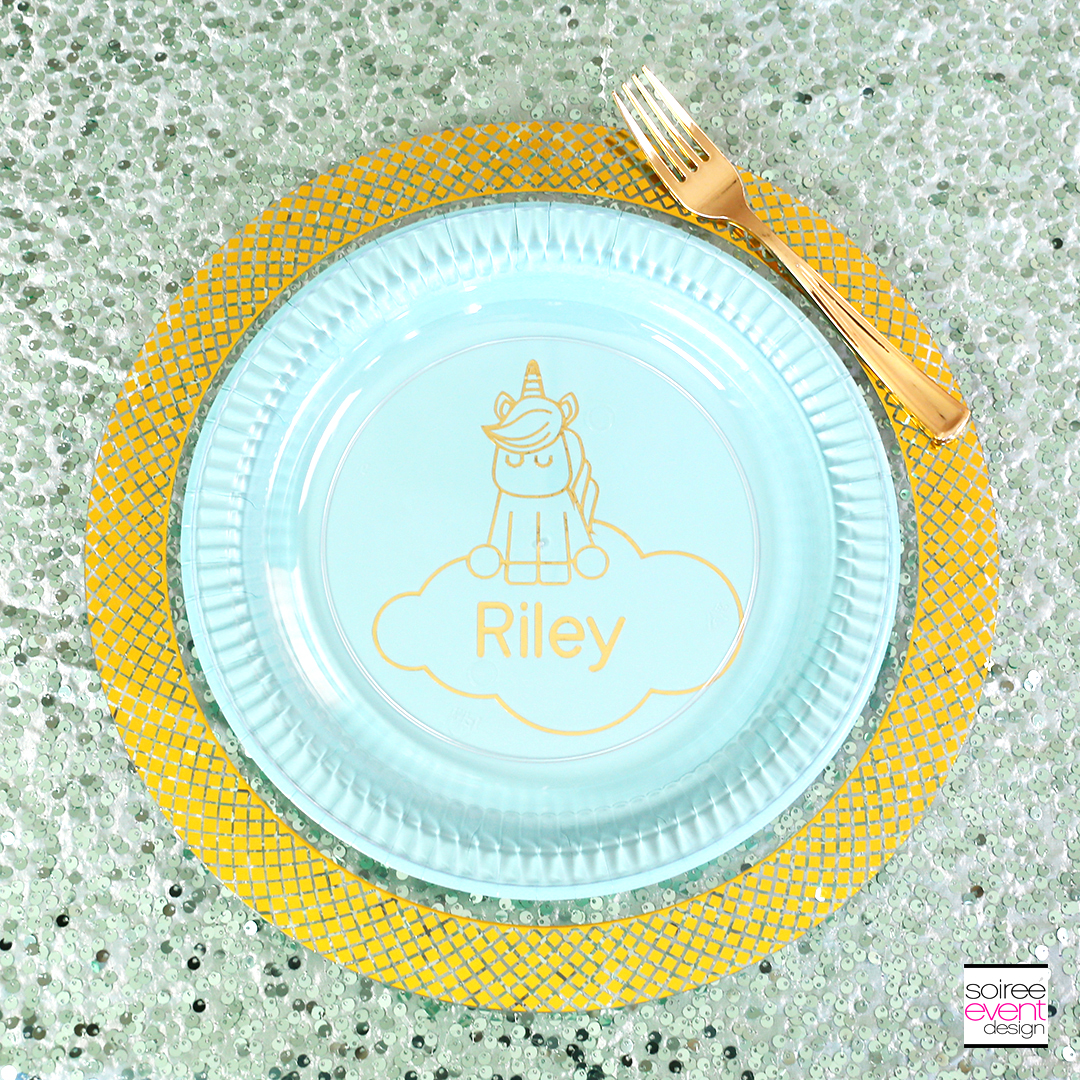 Make Personalized Unicorn Party Plates with the Cricut SM
