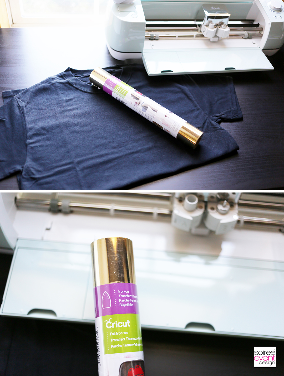 Make Tshirts with Cricut for Sweet 16 Party - supplies