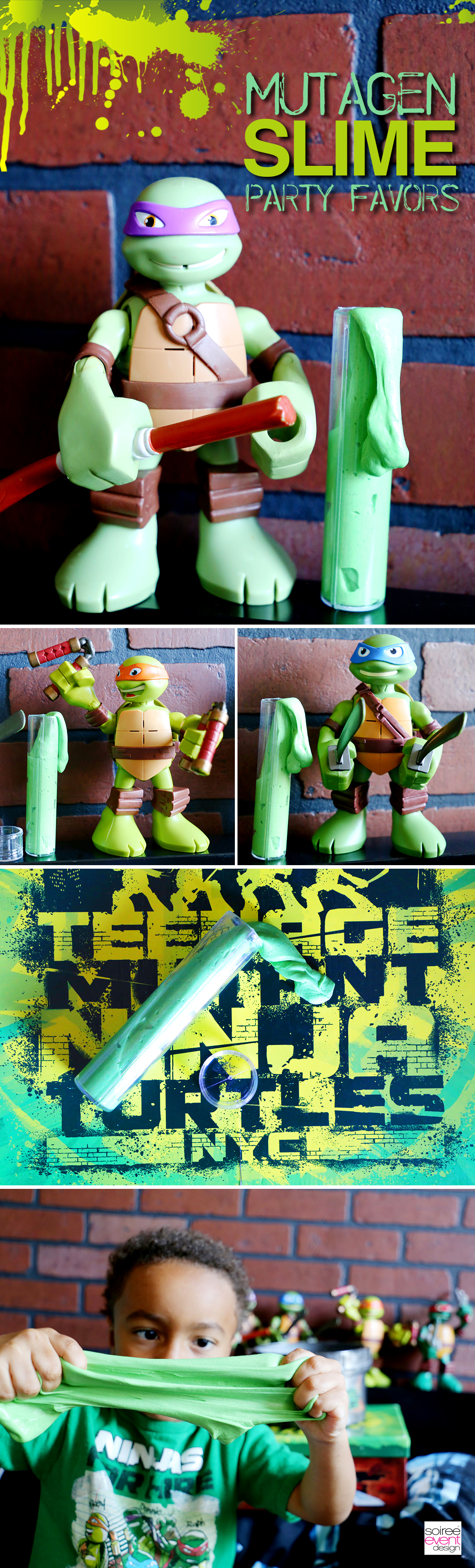 Teenage Mutant Ninja Turtles Mutagen Slime Party Favors