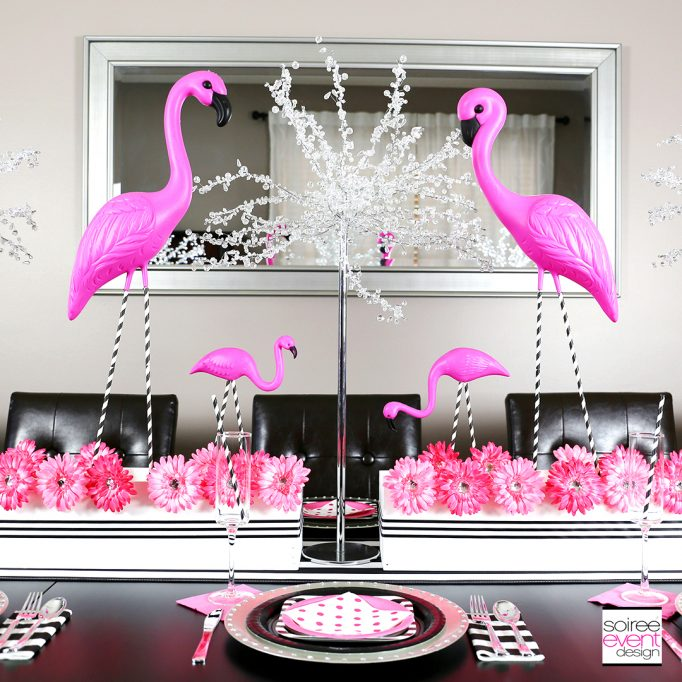 How to Style a Flamingo Party Tablescape