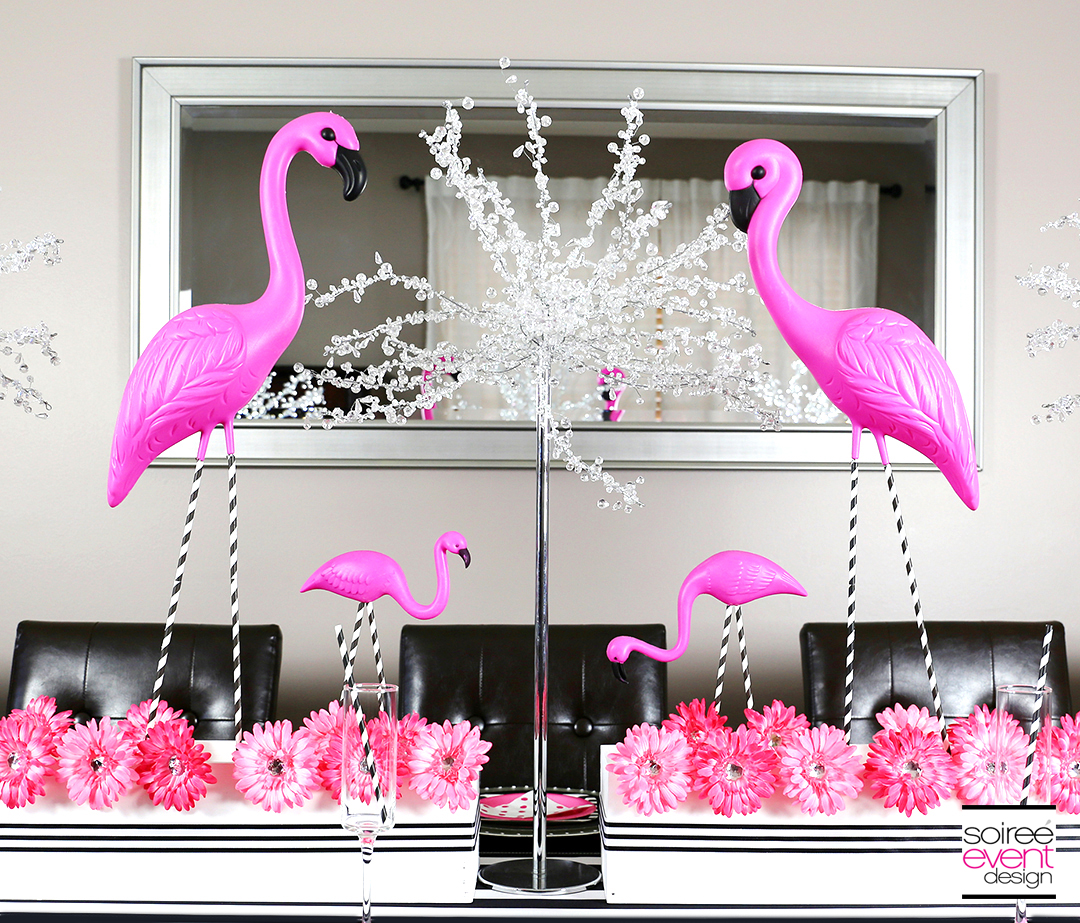 Flamingo Party Tablescape - Centerpiece