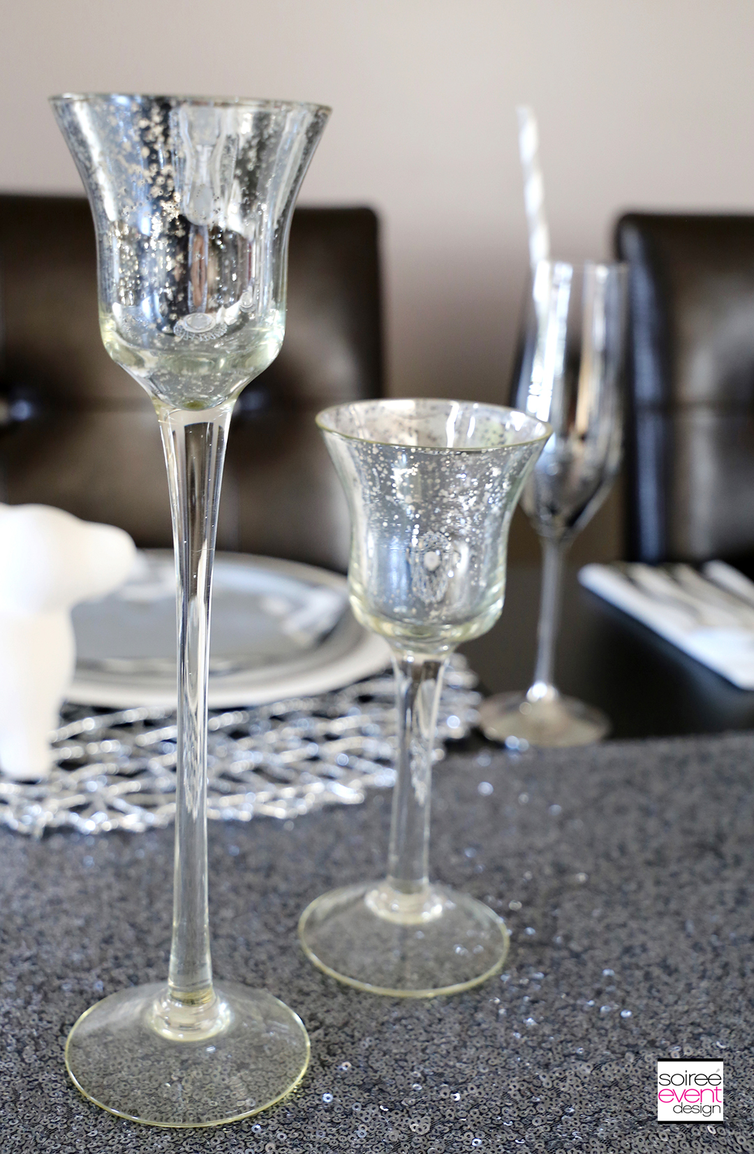 Modern Safari Tablescape - Silver Votive Holders