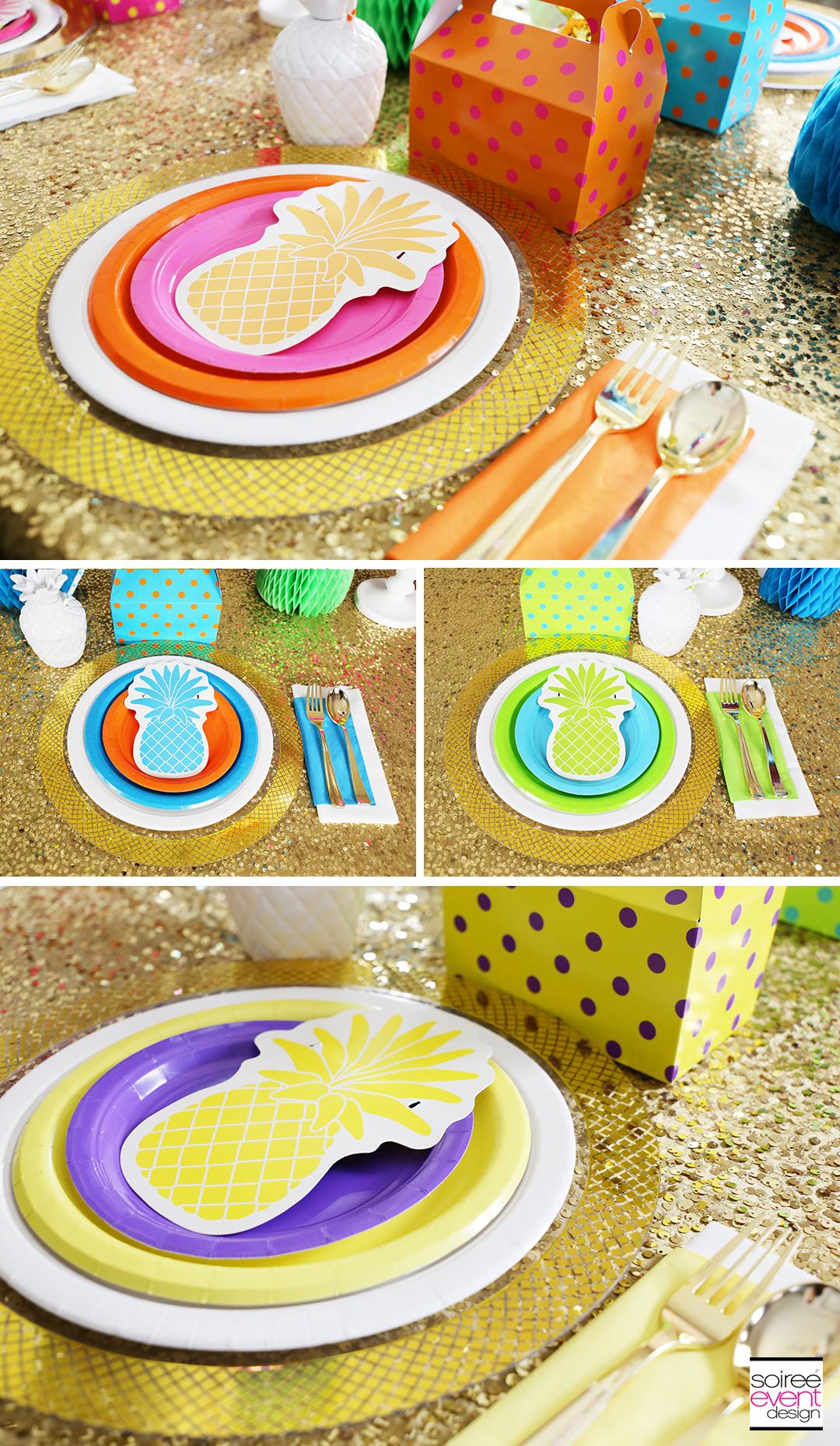 Rainbow Party Ideas - Pineapple Rainbow Party Tablescape 6