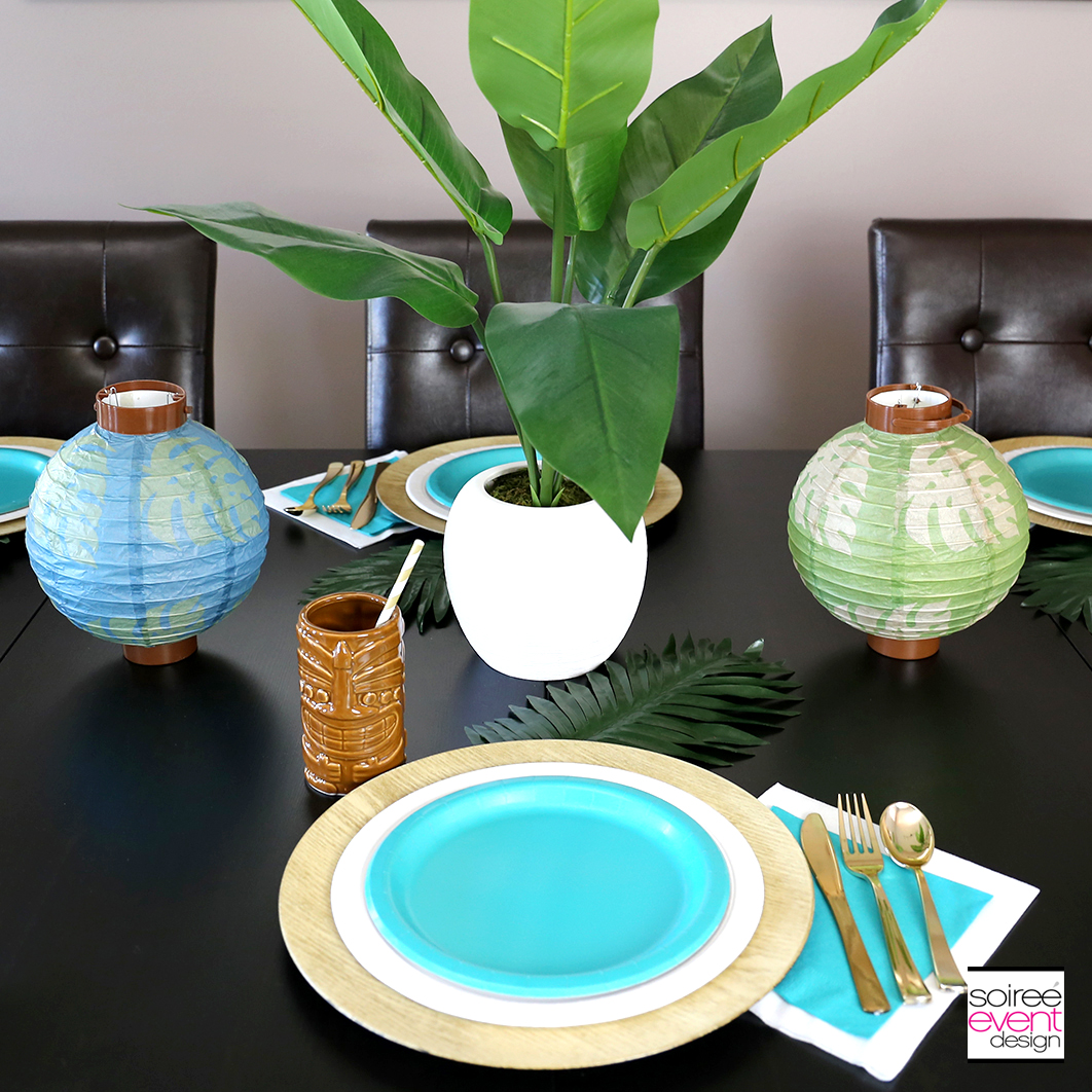 Tropical Party Ideas - Tropical Party Tablescape 1