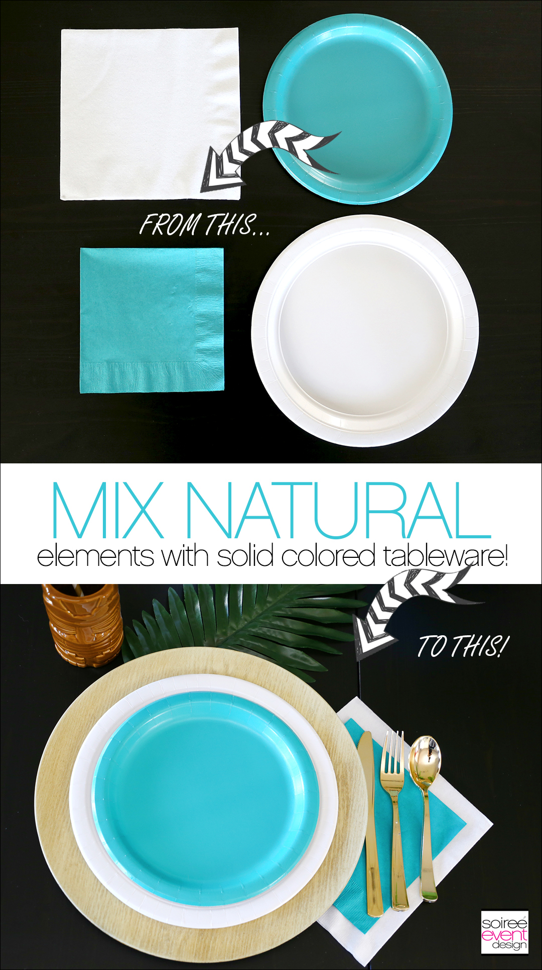 Tropical Party Ideas - Tropical Party Tablescape 3