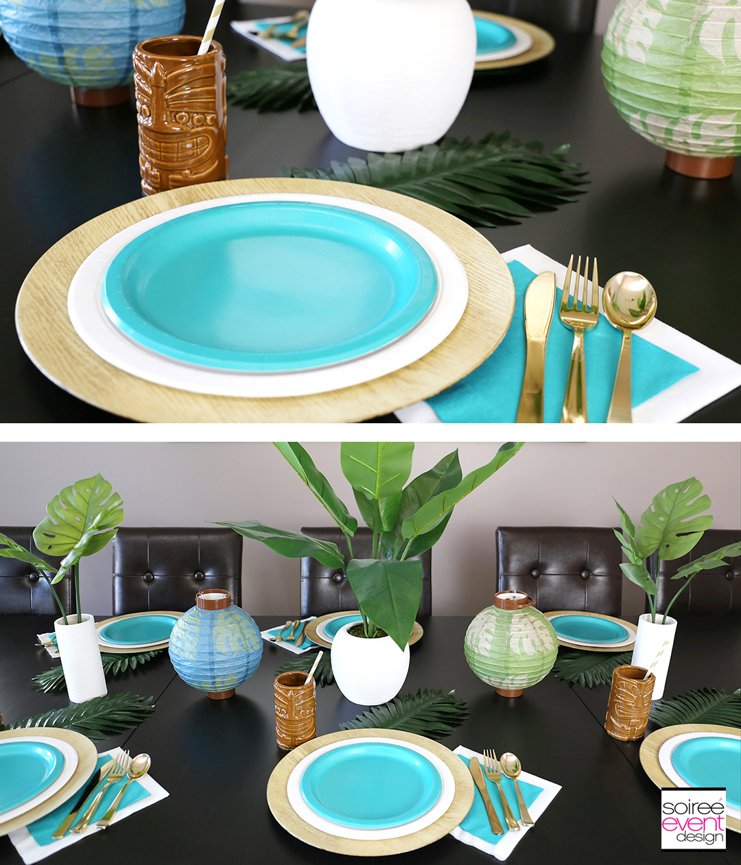 Tropical Party Ideas - Tropical Party Tablescape 4