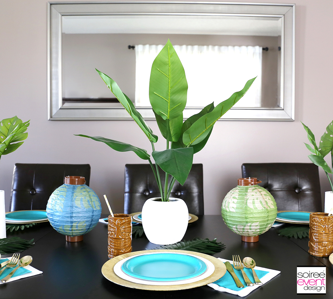 Tropical Party Tablescape - Luau Party