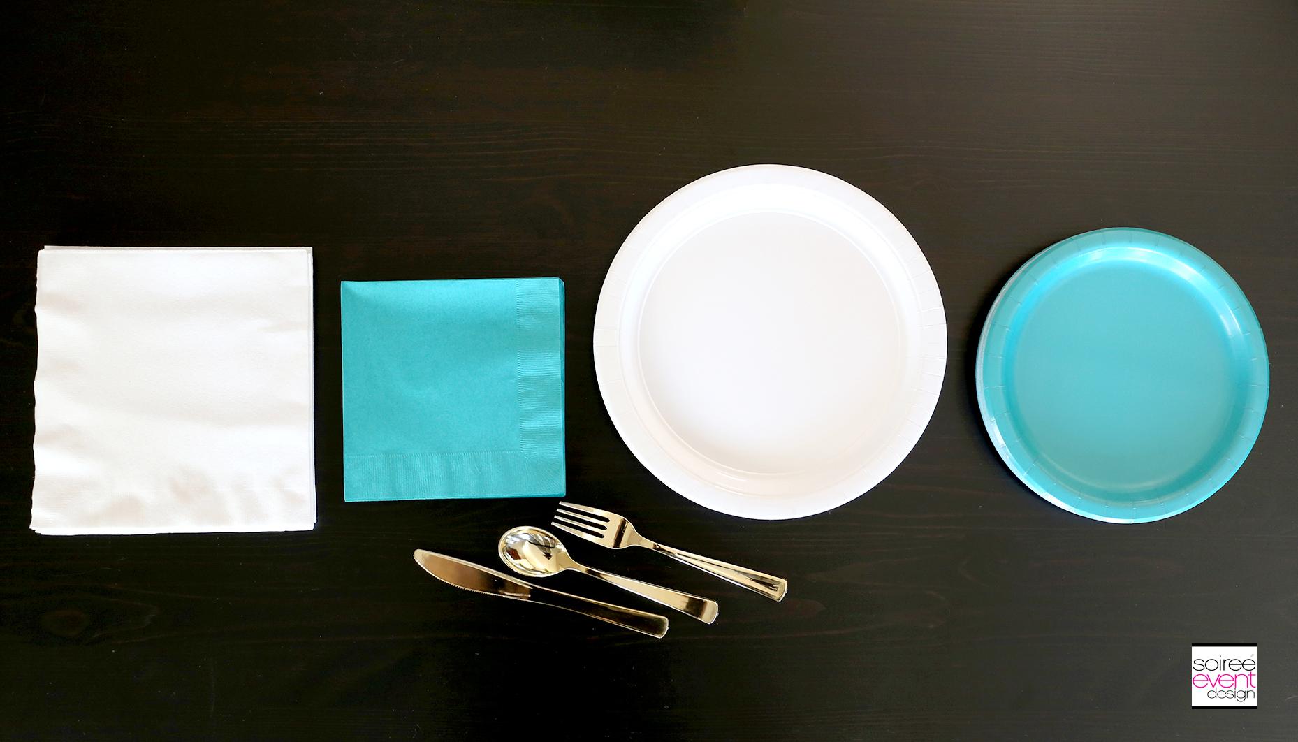 Tropical Party Tablescape plates