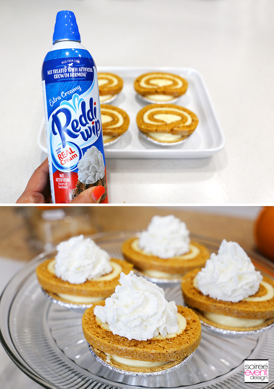 Mini Pumpkin Roll Cheesecakes - Step 5